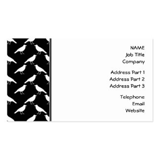 Bird Pattern. Crows in Black and White. Business Card