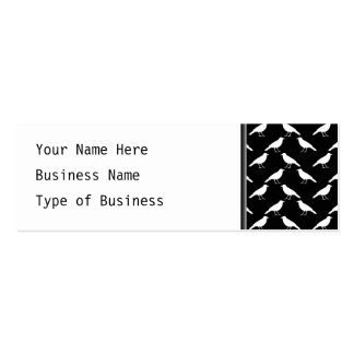 Bird Pattern. Crows in Black and White. Mini Business Card