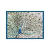 Bird Peacock Animal Wildlife Fleece Blanket