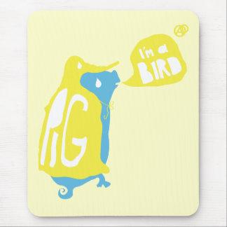 Bird-Pig Mouse Pad