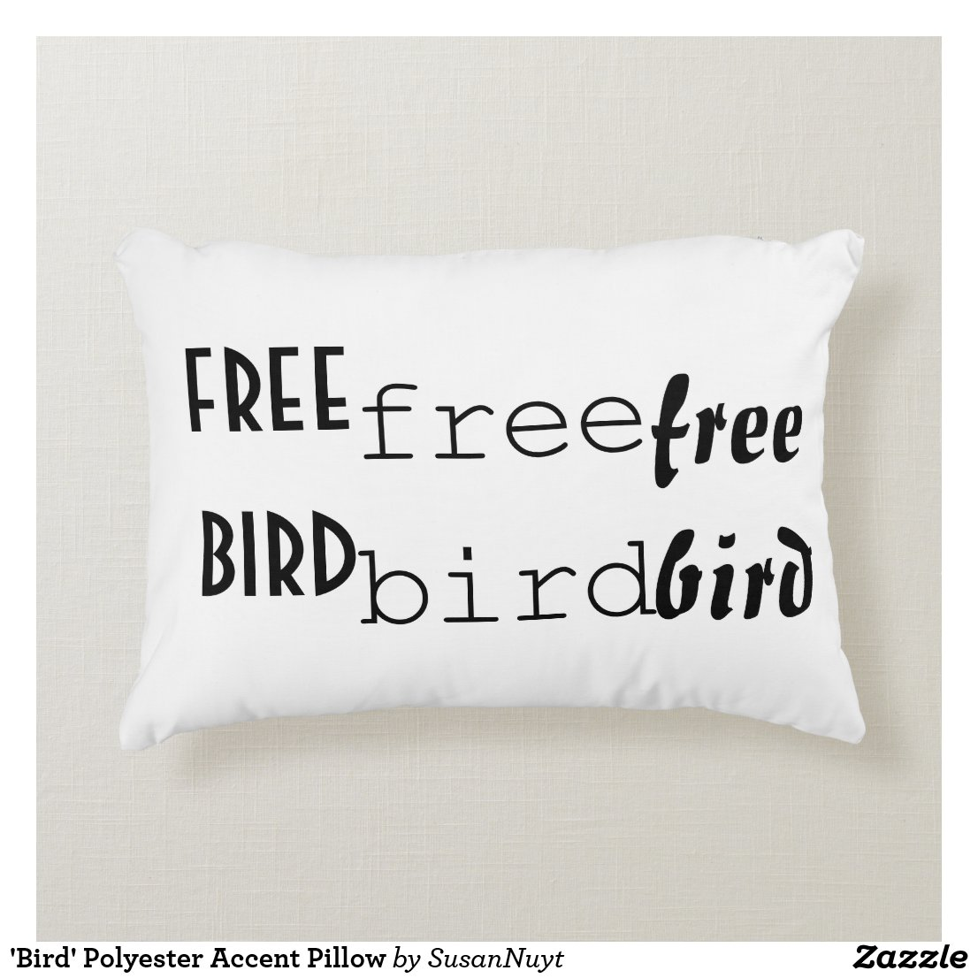 'Bird' Polyester Accent Pillow
