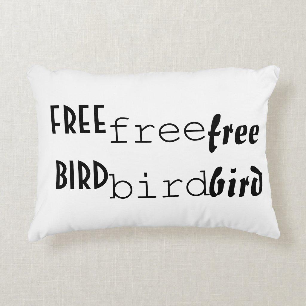 'Bird' Polyester Accent Pillow