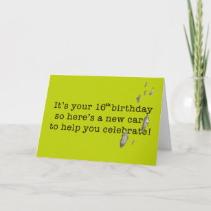 Bird Poop Funny Birthday For 16 Year Old Teenager Card