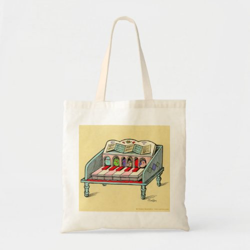 Bird Powered Harpsichord Budget Tote Bag