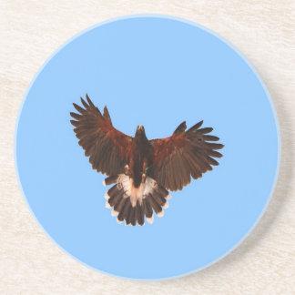 bird prey  solid landing drink coasters