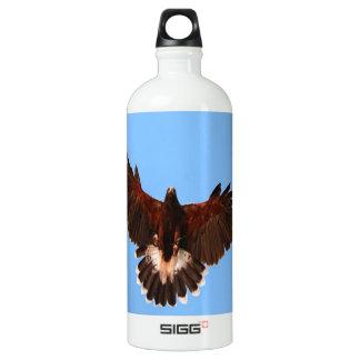 bird prey  solid landing water bottle