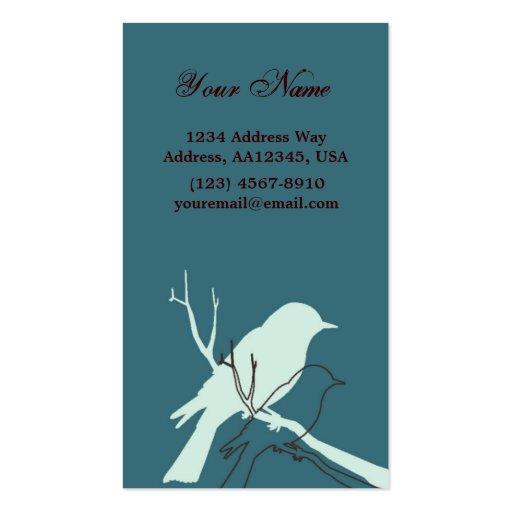 Bird Profile Card (Aqua) Business Card