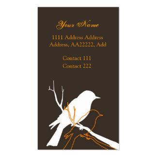 Bird Profile Card Business Cards