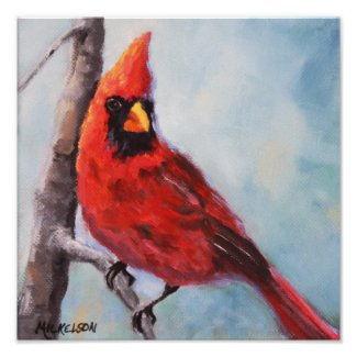 Bird Red Cardinal Fine Art Print