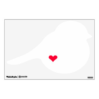Bird & Red Heart Wall Decal