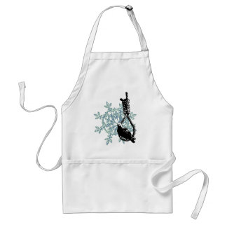 BIRD RESTING ON A NOOSE ADULT APRON