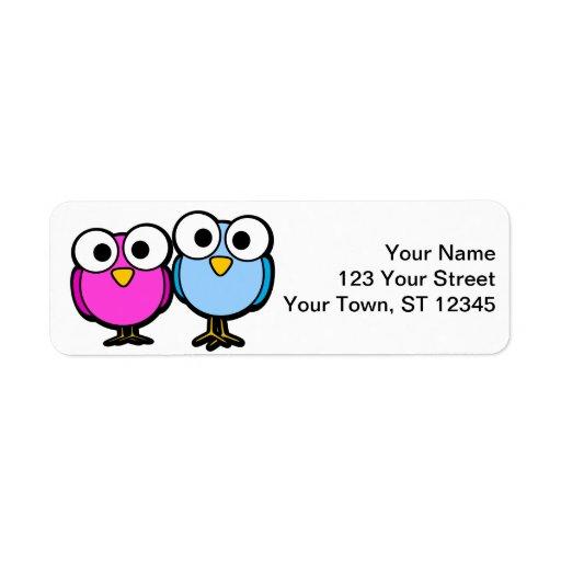 Bird return address stickers - small lables labels