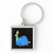 Bird Rhino Keychain