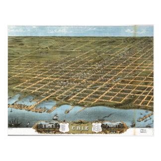 Bird s Eye View City of Erie Pennsylvania 1870 Post Cards