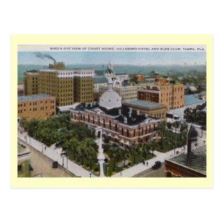 Bird s Eye View Court House Tampa Florida Vintage Postcard