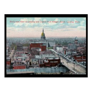 Bird s Eye View Lansing MI c1915 Vintage Post Cards