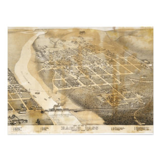 Bird s Eye View Map of Eagle Pass Texas in 1887 Invites