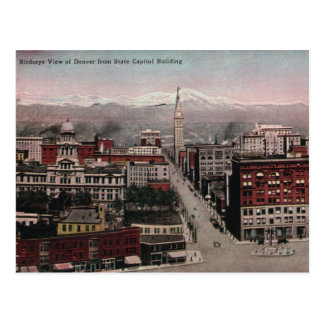 Bird s Eye View of Denver CO in Early 1900 s Post Card