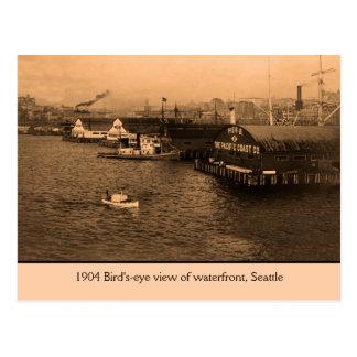 Bird s-eye view of waterfront Seattle Postcards