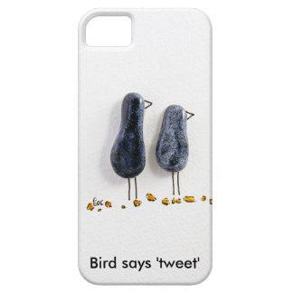 Bird says 'tweet' cute blue ceramic couple iPhone 5 cases