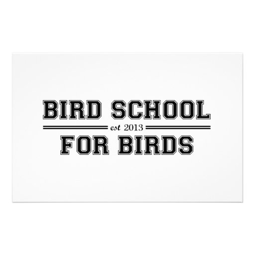 Bird School Which Is For Birds Stationery
