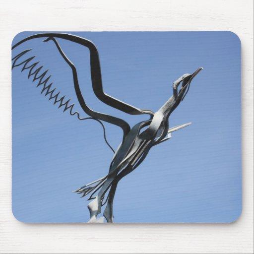Bird Sculpture Mouse Pad