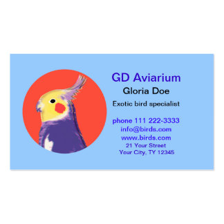 Bird Shop Double-Sided Standard Business Cards (Pack Of 100)