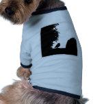 Bird silhouette doggie tshirt
