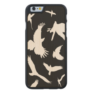 bird silhouette pattern carved® maple iPhone 6 case