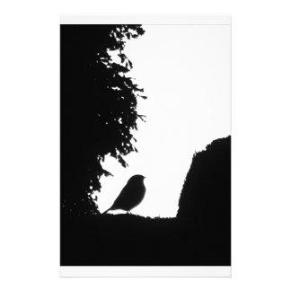 Bird silhouette customized stationery