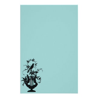 Bird silhouette personalized stationery