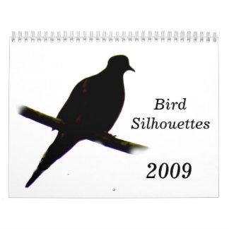 Bird Silhouettes 2009 Calendar