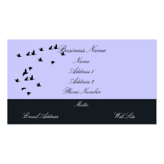 Bird Silhouettes Business Cards