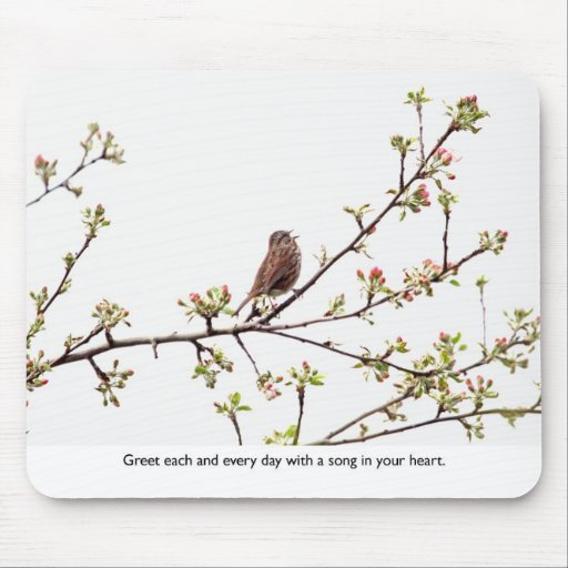 Bird Singing a Happy Song Mouse Pad