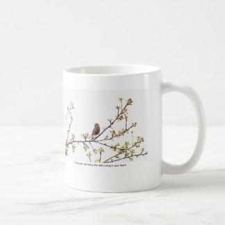Bird Singing a Happy Song Classic White Coffee Mug