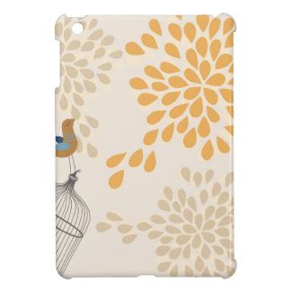 Bird singing outside the cage iPad mini cover