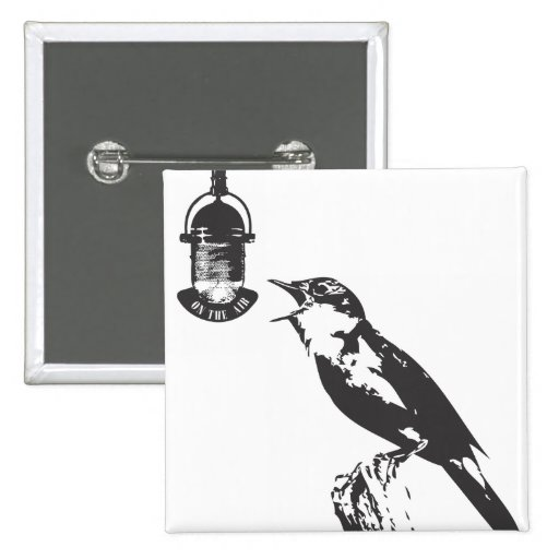 BIRD SINGING PIN CUADRADA 5 CM