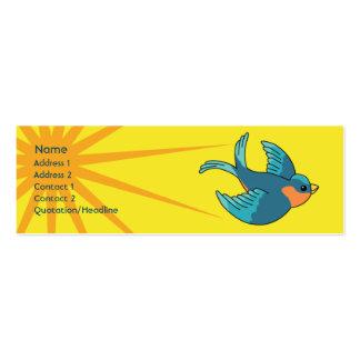 Bird - Skinny Mini Business Card