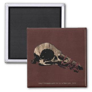 Bird Skull 2 Inch Square Magnet