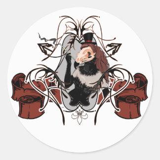 bird skull cabaret sticker