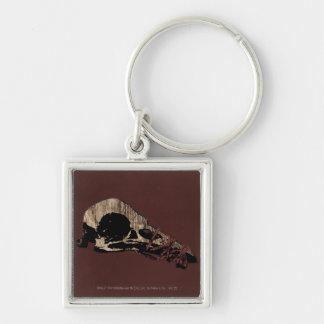Bird Skull Keychain