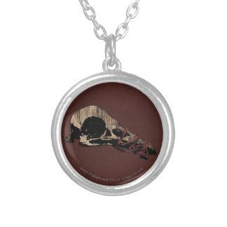 Bird Skull Silver Plated Necklace