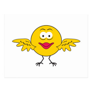 Bird Smiley Face Postcard