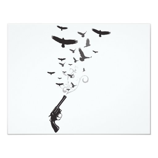 Bird Smoke 4.25x5.5 Paper Invitation Card