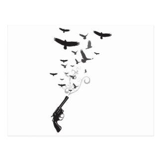 Bird Smoke Post Card