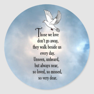 "Bird ""So Loved"" Poem Classic Round Sticker"