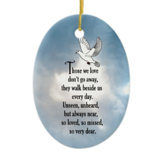 "Bird ""So Loved"" Poem Double-Sided Oval Ceramic Christmas Ornament"
