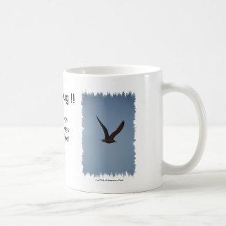 Bird Soaring High In The Sky Wings Spread Coffee Mug