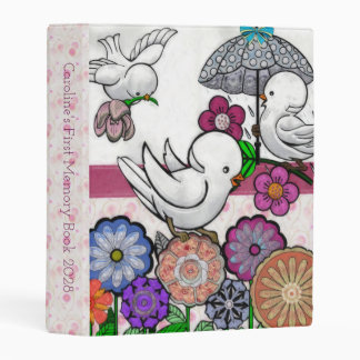 Bird Song Baby Girl's First Memory Book Mini Binder