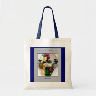 Bird Song Beaded Pendant Tote Bag by gretchen